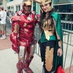 Iron Man and Loki - Hayley Sargent - SDCC 2012