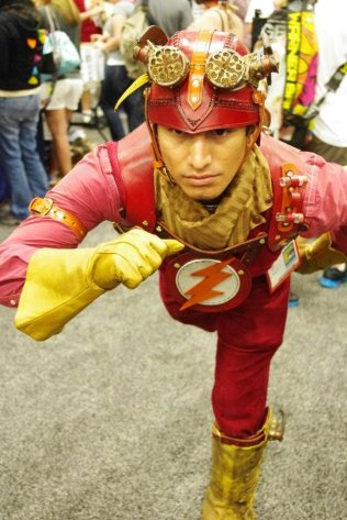 Steampunk Flash - SDCC 2012 - Aggressive Comix