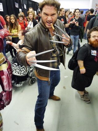 Wolverine at Montreal Comic Con 2012