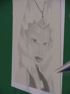 C. Hearne from South Carolina drew this picture of Ahsoka Tano for Eckstein to sign.