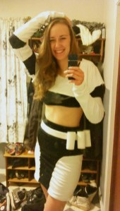 Jenbo C. and her homemade stormtrooper costume.