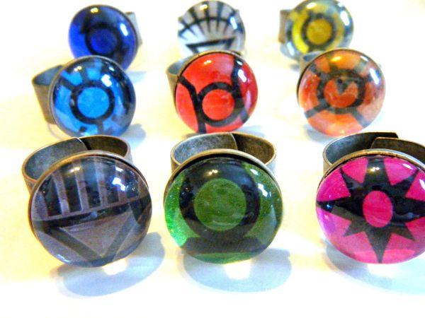 lantern corps etsy rings