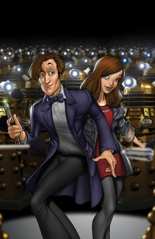 The Doctor and Clara by Dominic Marco
