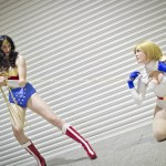 Wonder Woman and Power Girl - MCM London Comic-Con 2013