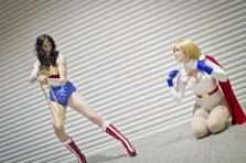 Wonder Woman and Power Girl - MCM London Comic-Con 2013
