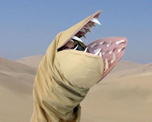 DIY Dune sandworm costume 1