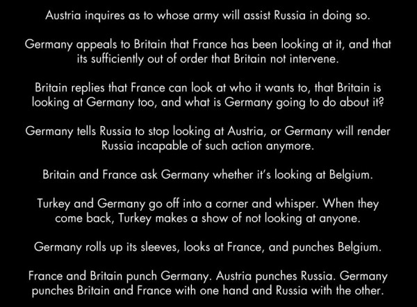 If WWI was a bar fight 3