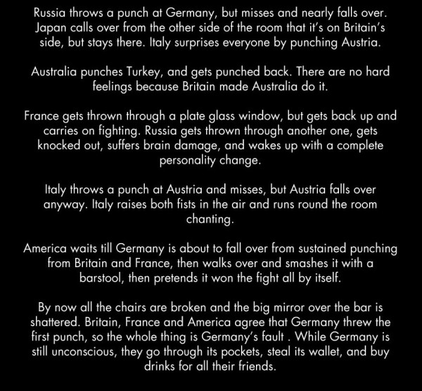 If WWI was a bar fight 4