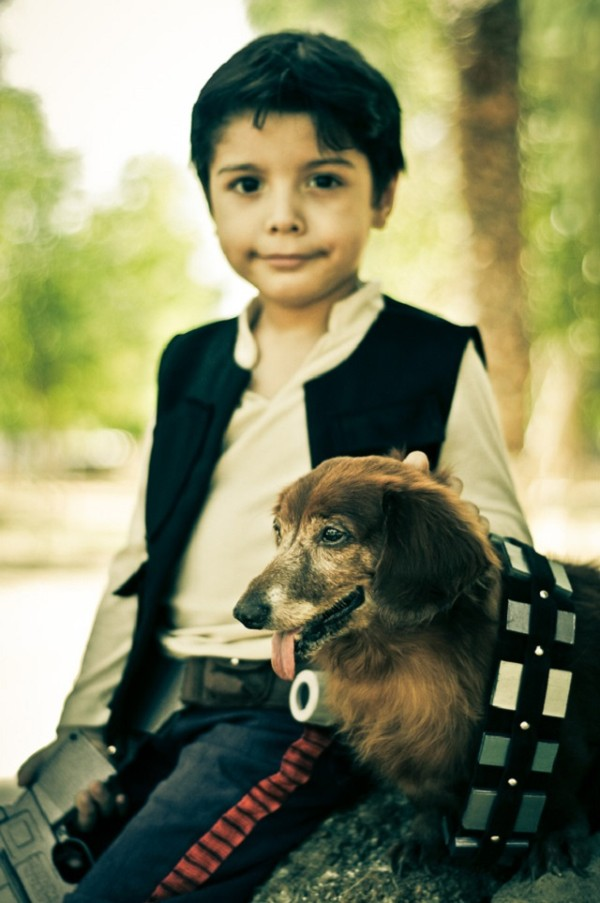 han solo and chewbacca_boy and his dog 3