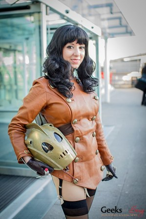 Riddle as The Rocketeer (London Super Comic Con 2014)