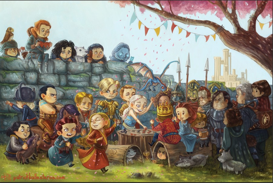 Game of Thrones Kids - Artwork by Patrick Balleseros