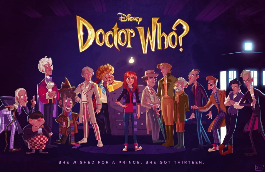 If Disney Made Doctor Who - Artwork by Stephen Byrne