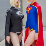 Black Supergirl and Supergirl - SDCC 2014 - Photo: Geeks are Sexy