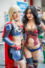 Supergirl (Stella Chuu) and Wonder Woman (Chubear Cosplay) - SDCC 2014 - Geeks are Sexy