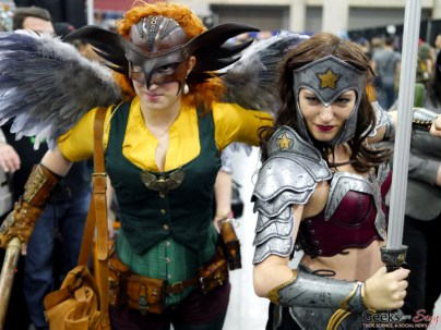 Hawk Girl and Wonder Woman - Comiccon de Québec 2014 - Photo by Geeks are Sexy