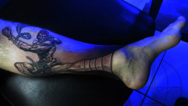 An Amazing Dhalsim Street Fighter Tattoo Pic