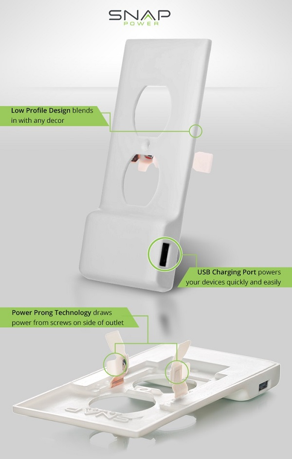 SnapPower USB Outlet