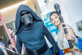 Kylo Ren and Rey - San Diego Comic-Con 2015 - Photo by Geeks are Sexy