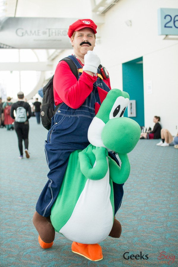 Mario and Yoshi - San Diego Comic-Con 2015 - Photo by Geeks are Sexy