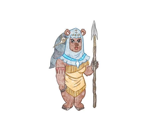Pocahontas as an Ewok