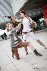 Rebels (Lisa Marie Cosplay and Stacy Rebecca) - London Super Comic Con 2016 - Photo by Geeks are Sexy