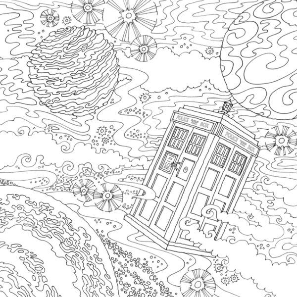 doctor who coloring book - Doctor Who Coloring Book