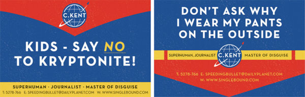With Great Power Comes A Great Superhero Business Card