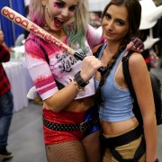 Harley Quinn and Lara Croft - Quebec City Comiccon 2016 - Photo by Geeks are Sexy