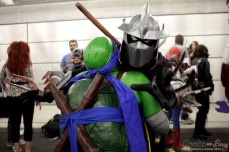 Leonardo and Shredder - New York Comic Con 2016 - Photo by Geeks are Sexy