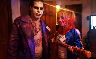 Émilie and Friend as Harley Quinn and The Joker