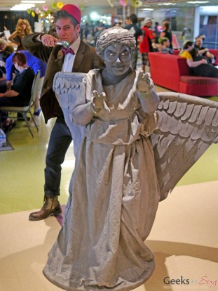 The Doctor and Weeping Angel - Geekulture Lanaudiere 2017 - Photo by Geeks are Sexy