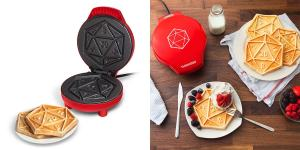 """Have a """"Critical Hit"""" Breakfast with this D20 Waffle Maker"""