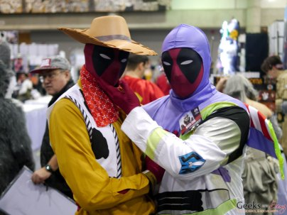 Woody Deadpool and Buzz Lightyear Deadpool – Quebec City Comic Con 2017 – Photo by Geeks are Sexy