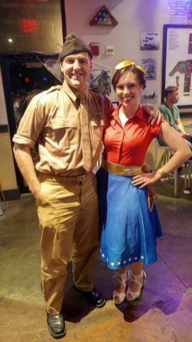 Allison as Wonder Woman and Steve Trevor