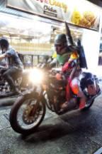 Derrick as Boba Fett Riding a Motorcycle