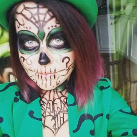 Jackie as Sugar Skull Riddler