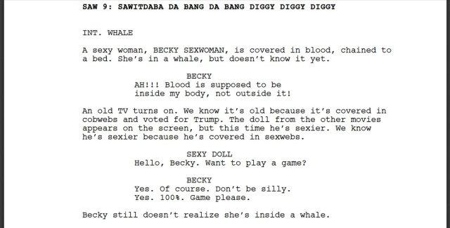 ai writes a hilarious saw movie script
