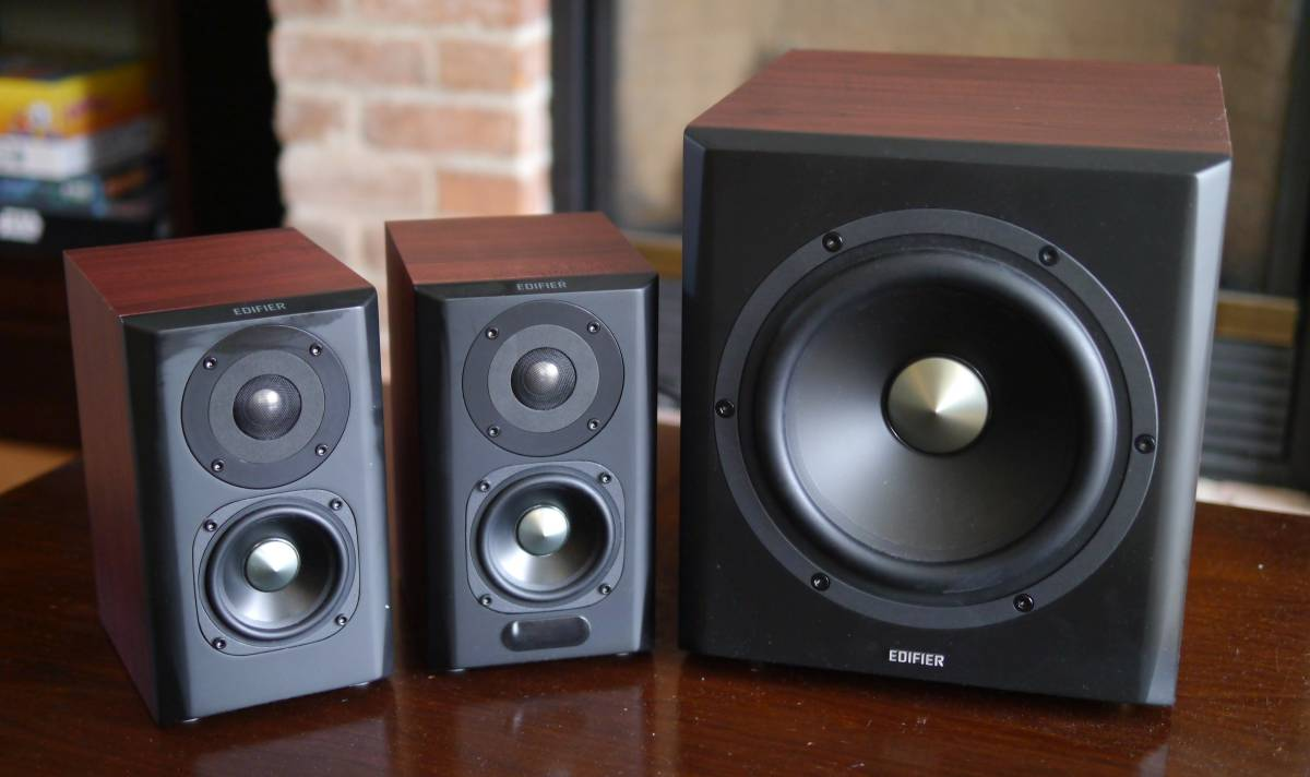 Edifier S350db Bookshelf Speakers And Subwoofer Big Sound On A