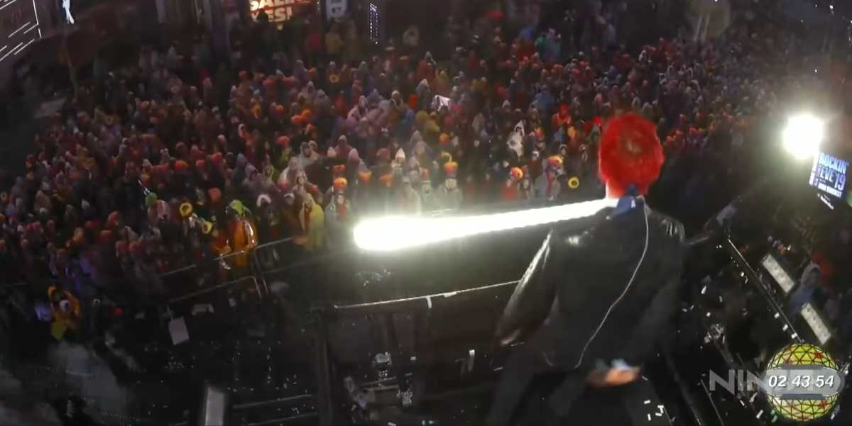 Ninja Attempts to Have A Million People Floss at Time Square for New Year; Fails Miserably Video