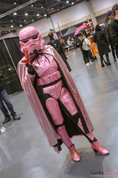 Pink Stormtrooper - Quebec Comiccon 2019 - Photo by Geeks are Sexy