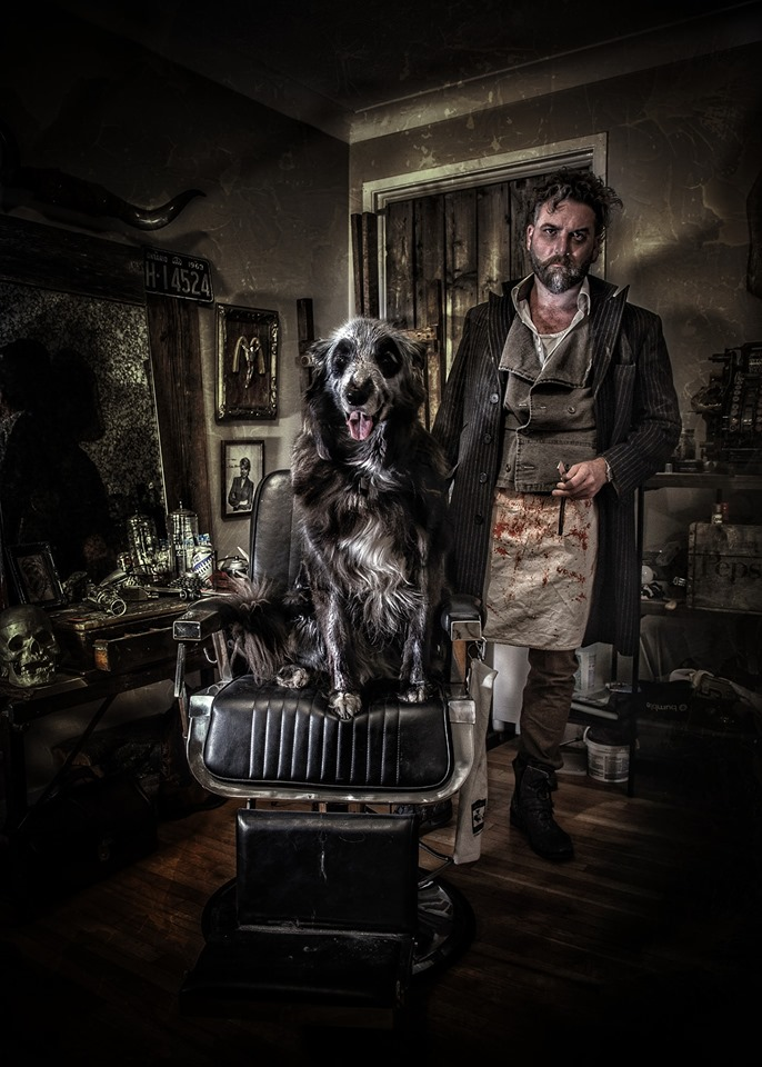 Darcy as Sweeney Todd
