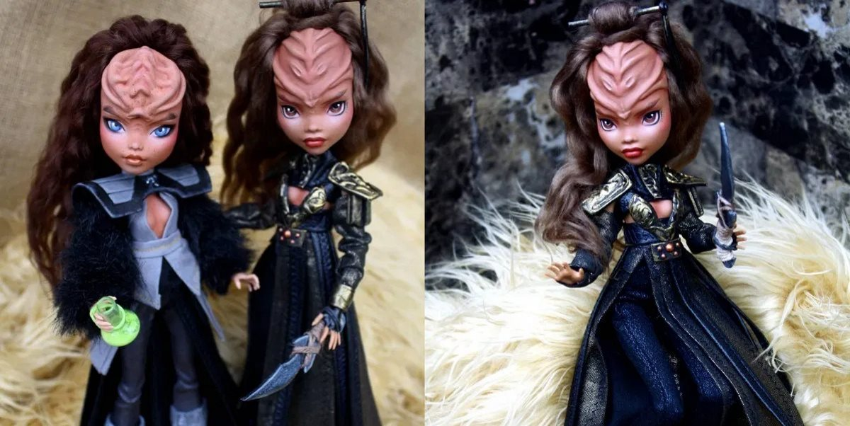 Artist Turns Monster High Dolls Into Fierce Klingon Warriors
