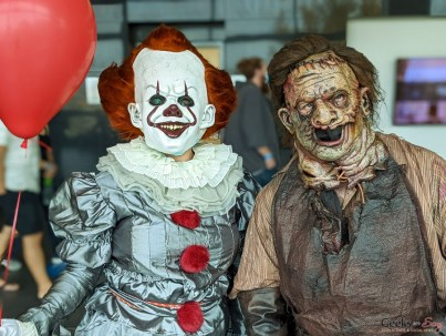 Pennywise and Leatherface - Photo by Geeks are Sexy at Quebec City ComicCon 2021
