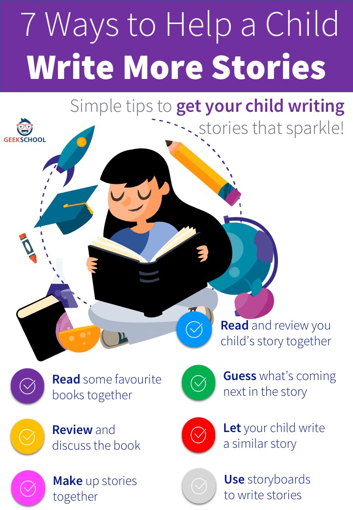 7 ways to help a child write more stories
