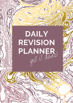 Gold and Purple Marble Effect Study Planner