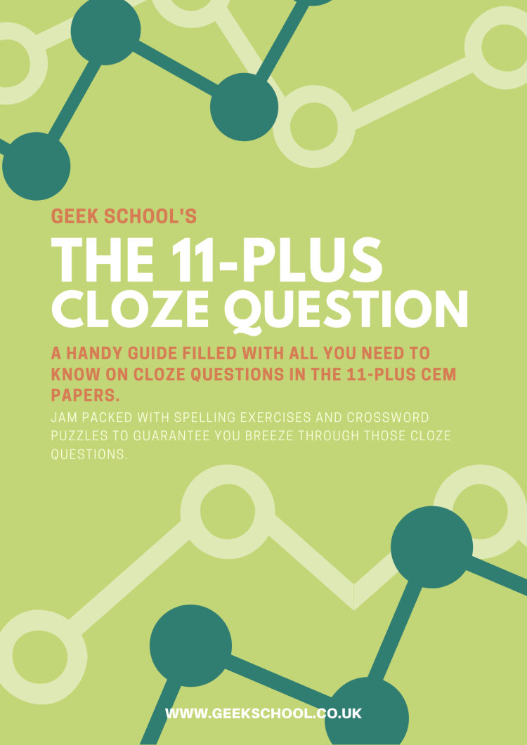 11 Plus Cloze Guide and Worksheets