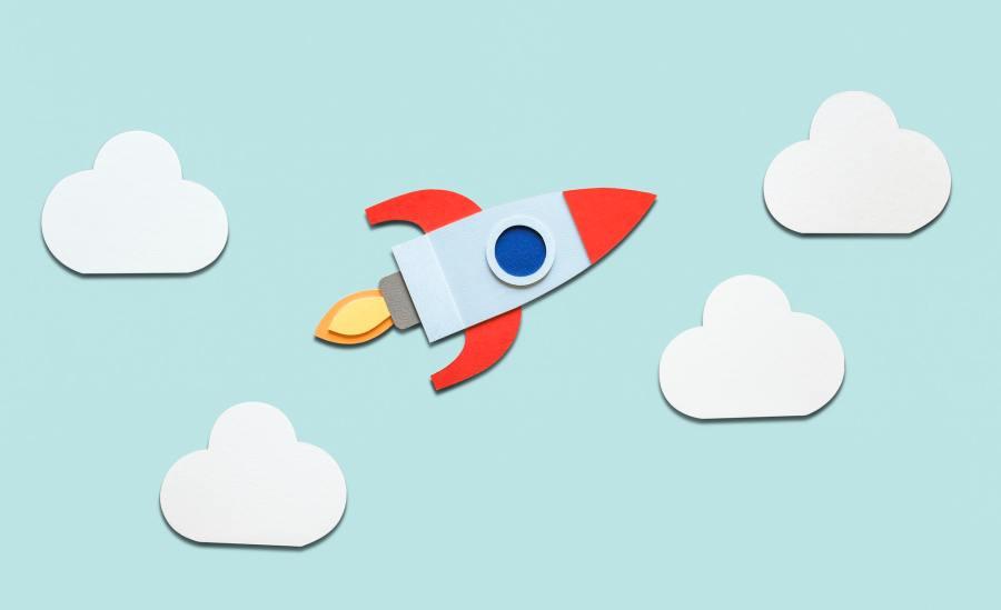 Launch rocket spaceship startup business