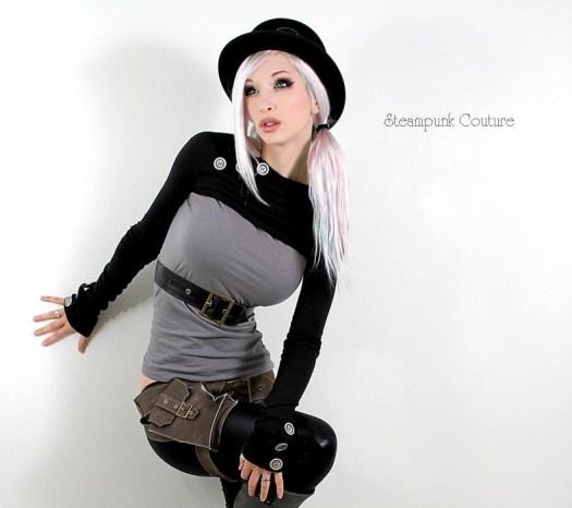 Steampunk Couture model Kato