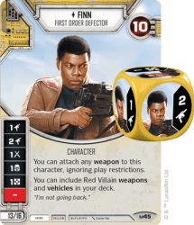 Finn Character Card from Star Wars Destiny