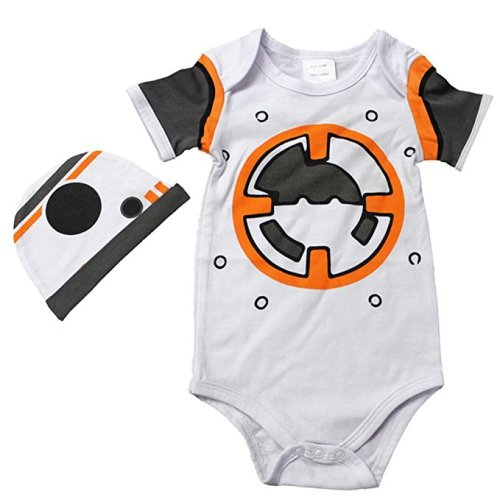 Star Wars Onesie - BB-8 Droid with matching hat